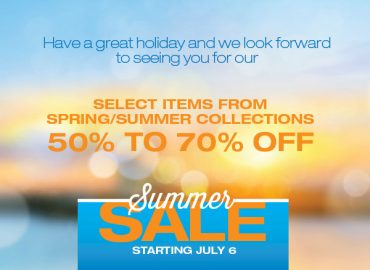 Summer Sale Starts July 6th