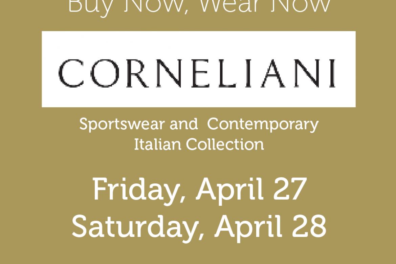 Corneliani Trunk Show – April 27 & 28