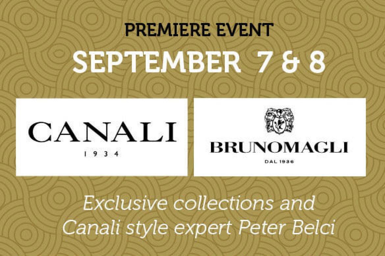 Canali & Bruno Magli –Trunk Show September 7 & 8